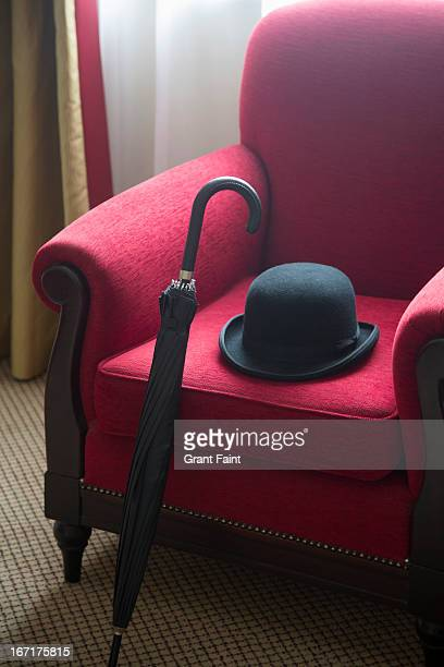 Hat and umbrella