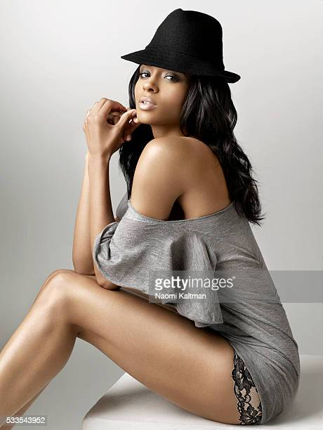 Hat by SSUR top by Tony Cohen Styling by Mariel Hoenn hair by Shirlena Allen makeup by Yolanda Frederick manicure by Lisa Logan
