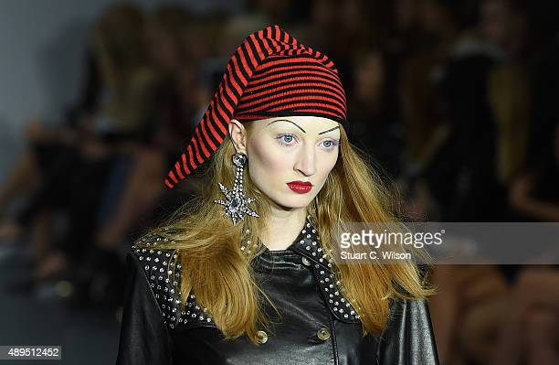 Hat detail during the Ashley Williams show at London Fashion Week Spring/Summer 2016 on September 22, 2015 in London, England.