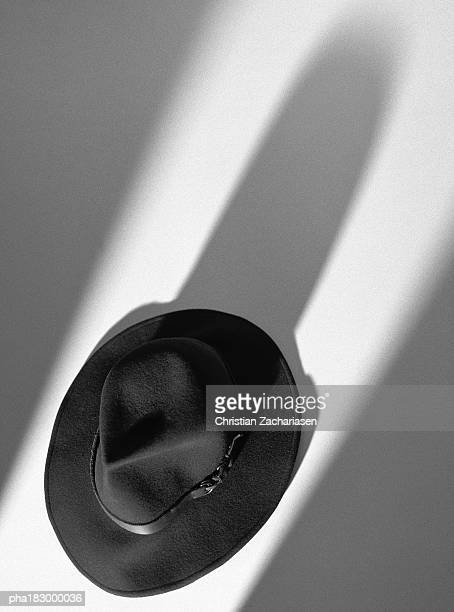 Hat, elevated view, b&w