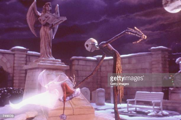 Hat in hand a sadderbutwiser Jack Skellington gets a boost from his ghost dog Zero when he and his plans for a 'new and improved' Christmas get shot...