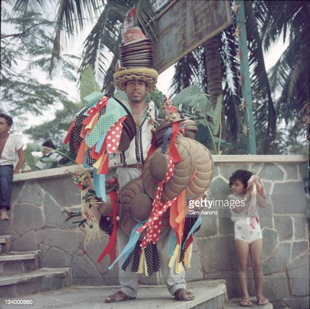 A hat seller in Acapulco Mexico 1961