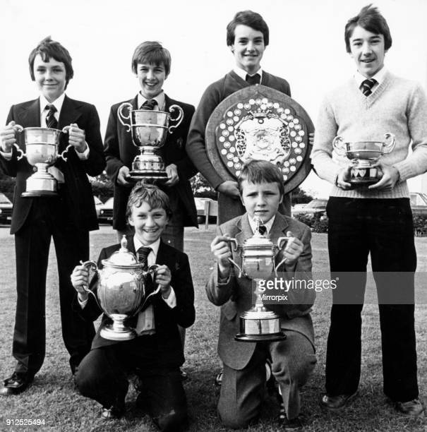 Hat trick of doubles to celebrate at the Middlesbrough Schools Football Association Annual presentation, 20th June 1980. Our picture show, Back Row,...