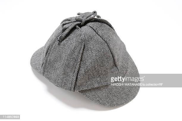 Hat with Herringbone Pattern