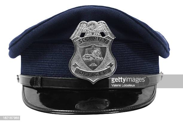 Hat with security officer badge
