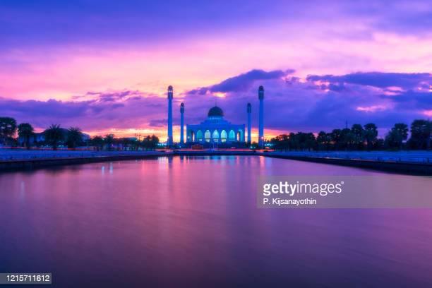 hat yai central mosques - provincia di songkhla foto e immagini stock