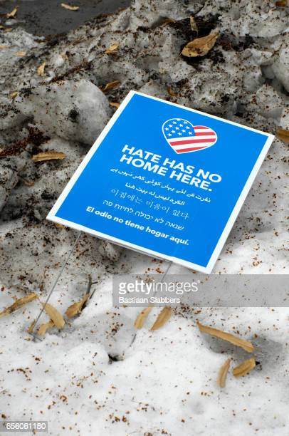 hate has no home here sign in philadelphia, pa - basslabbers, bastiaan slabbers stock pictures, royalty-free photos & images