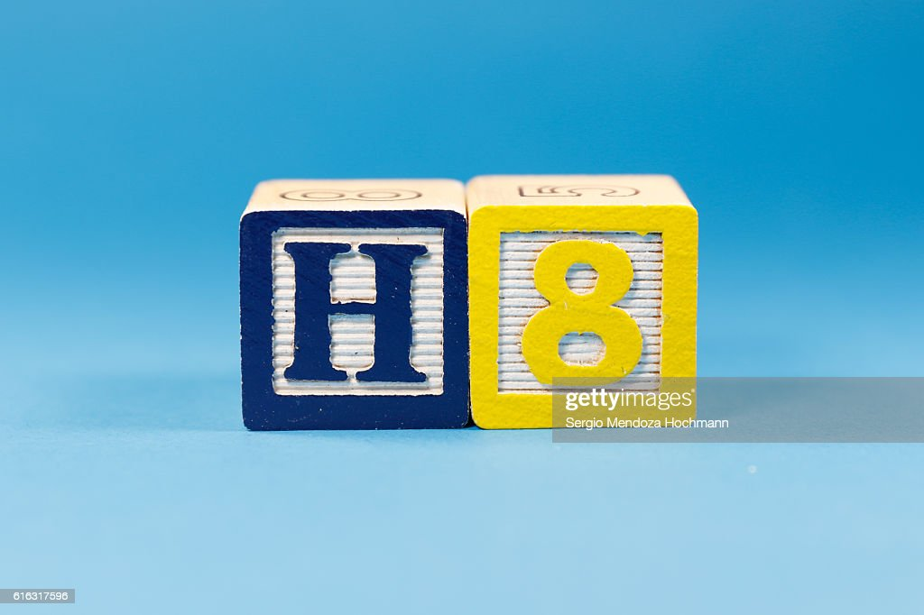 Hate or H8 - Wooden letter blocks : Stock Photo