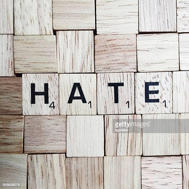 Hate Spelled in Scrabble Letters