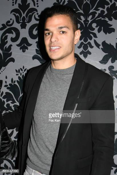 Hatem Ben Arfa attends 'Les Diamants de L'Orient' Nadia Toure Streetwear Fashion Show at VIP Room Theater Club on November 30 2017 in Paris France
