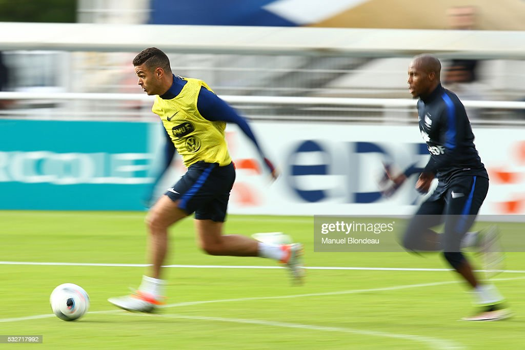 Hatem Ben Arfa of France during a training session during the preparation on the French football Team for Euro 2016 on May 19, 2016 in Biarritz, France.