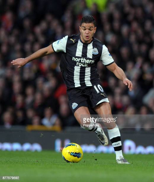 Hatem Ben Arfa of Newcastle United in action during the Barclays Premier League match between Manchester United and Newcastle United at Old Trafford...