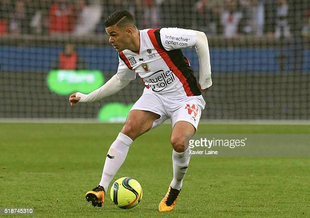 Hatem Ben Arfa of OGC Nice in action during the French Ligue 1 match between Paris SaintGermain and OGC Nice at Parc des Princes on april 02 2016 in...