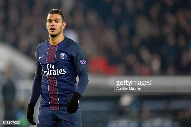 Hatem Ben Arfa of Paris SaintGermain reacts during the UEFA Champions League match between Paris SaintGermain and FC Ludogorets Razgrad at Parc des...
