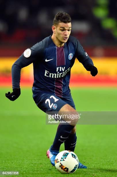 Hatem Ben Arfa of Paris SaintGermain runs with ball during the Ligue 1 match between Paris SaintGermain and Toulouse FC at Parc des Princes on...