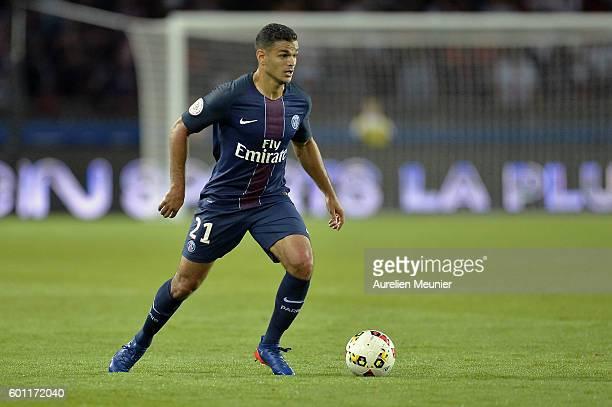 Hatem Ben Arfa of Paris SaintGermain runs with the ball during the Ligue 1 match between Paris SaintGermain and AS Saint Etienne at Parc des Princes...