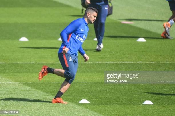 Hatem Ben Arfa of PSG during the Paris Saint Germain Training Session at Camp des Loges on May 3 2018 in Paris France