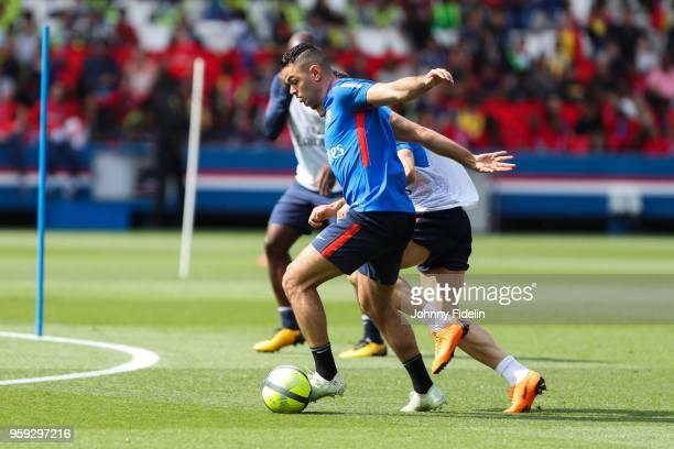 Hatem Ben Arfa of PSG during the training session of Paris Saint Germain at Parc des Princes on May 16 2018 in Paris France