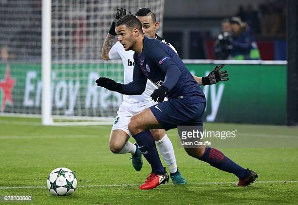 Hatem Ben Arfa of PSG in action during the UEFA Champions League match between Paris SaintGermain and PFC Ludogorets Razgrad at Parc des Princes...