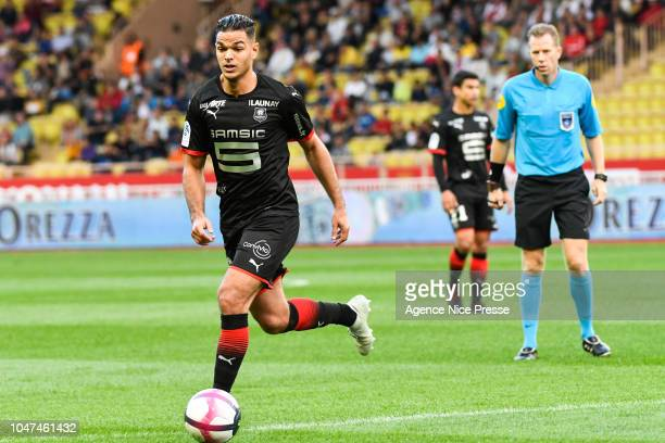 Hatem Ben Arfa of Rennes during the Ligue 1 match between Monaco and Rennes at Stade Louis II on October 7 2018 in Monaco Monaco