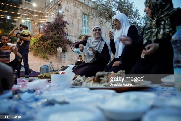 Hatice Huvays mother of five and one of the volunteer women guard Al-Aqsa Mosque, who was forbidden to enter the Al-Aqsa Mosque, and her friends wait...