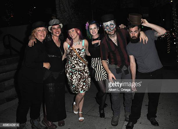 Hat/jewelry designer Merry Lee Rae contestants Rachael Wagner Keaghlan Ashley Cig Neutron and George Troester attend the Season Finale For SyFy...