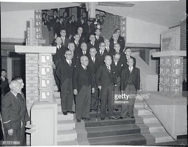 Hatoyama cabinet was formally inaugurated as a caretaker cabinet pending a general election it is committed to carry out by March 10, 1955. Left to...