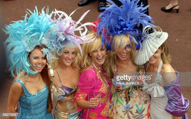 Hats abound during Ladies Day on the third day of Royal Ascot which this year is being held at York Racecourse in York 16 June while Ascot is being...