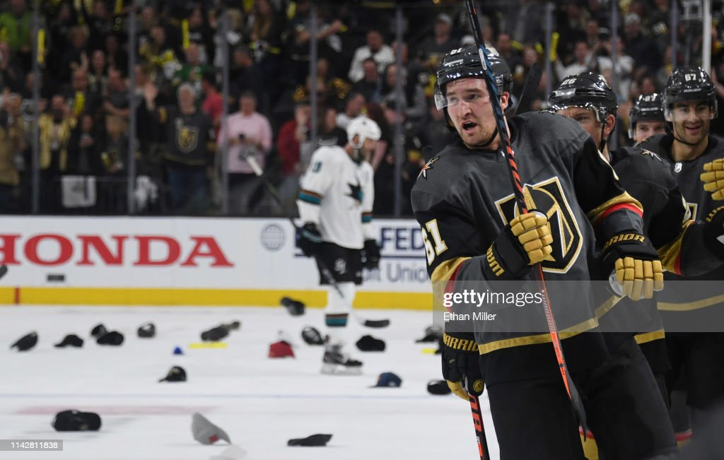 San Jose Sharks v Vegas Golden Knights - Game Three : News Photo