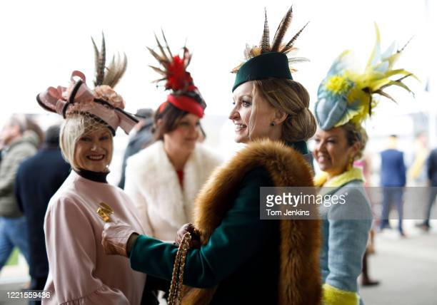 Hats on Ladies Day during day two of the Cheltenham National Hunt Racing Festival at Cheltenham Racecourse on March 11th 2020 in Gloucestershire