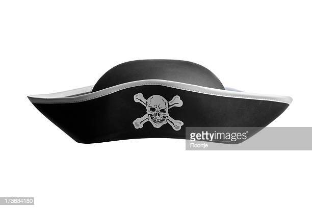 hats: pirate hat - hat stock pictures, royalty-free photos & images