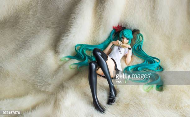 hatsune miku - rein stock pictures, royalty-free photos & images