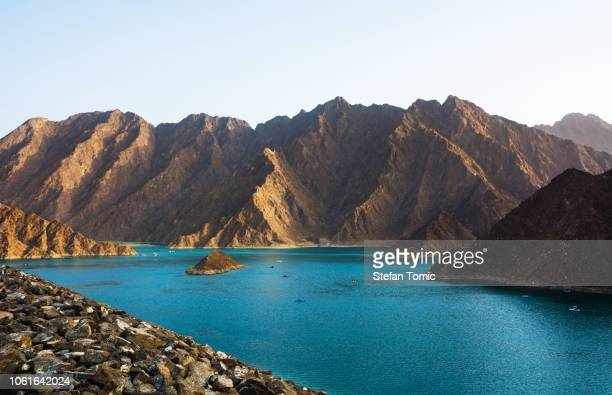 hatta lake in dubai emirate, uae - united arab emirates stock pictures, royalty-free photos & images
