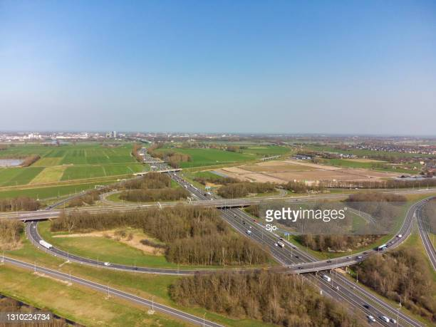 """hattemberbroak highway junction where the n50/a50 and a28 highways cross - """"sjoerd van der wal"""" or """"sjo"""" stock pictures, royalty-free photos & images"""