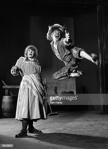 Hattie Jacques and Johnnie Heawood in a recreation of a Victorian Music Hall at the Player's Theatre, London. Original Publication: Picture Post -...