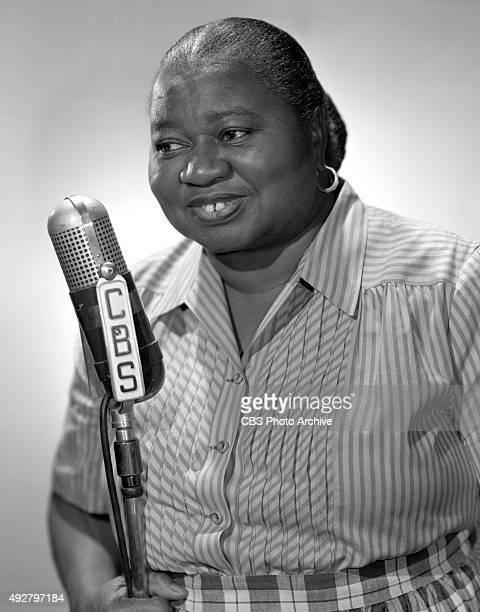 Hattie McDaniel star of the CBS Radio program The Beulah Show November 14 1947 Hollywood CA