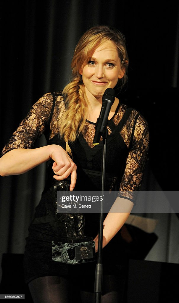 Hattie Morahan accepts the Natasha Richardson award for Best Actress for 'A Doll's House' at the 58th London Evening Standard Theatre Awards in association with Burberry at The Savoy Hotel on November 25, 2012 in London, England.