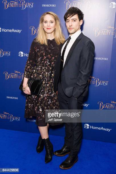 Hattie Morahan and Blake Ritson attend the UK Launch Event of 'Beauty And The Beast' at Odeon Leicester Square on February 23 2017 in London England