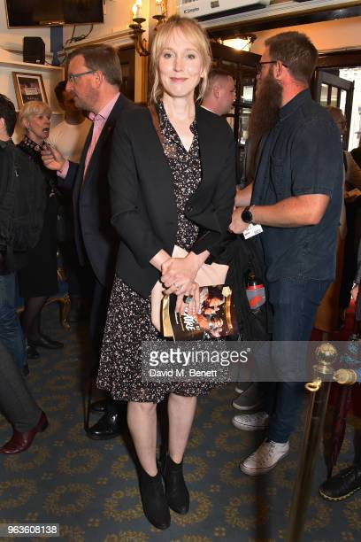 Hattie Morahan arrives at the press night performance of 'Consent' at the Harold Pinter Theatre on May 29 2018 in London England