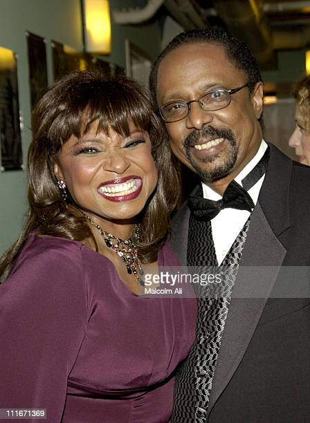 Hattie Winston and Harold Wheeler during Hattie and Harold's on Stage Cabaret at The Alex Theatre in Glendale California United States
