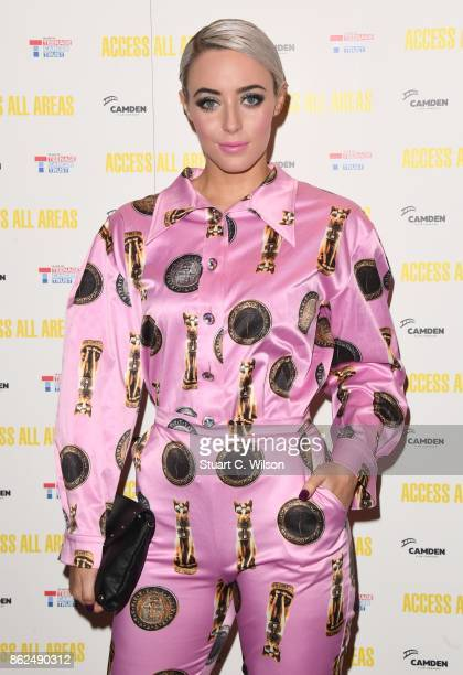 Hatty Keane arrives at the 'Access All Areas' VIP gala screening held at Proud Camden on October 17, 2017 in London, England.