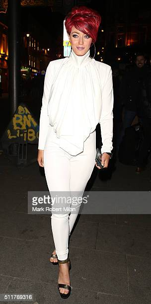 Hatty Keane attending the JF London a/w1617 presentation and party at the W hotel on February 22 2016 in London England