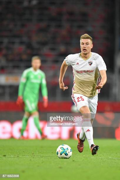 Hauke Wahl of FC Ingolstadt 04 plays the ball during the Second Bundesliga match between 1 FC Nuernberg and FC Ingolstadt 04 at MaxMorlockStadion on...