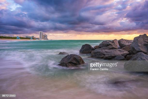 haulover beach sunrise 2 - haulover beach stock pictures, royalty-free photos & images