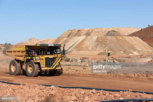 Haulpack on haul road Mount Magnet Western Australia