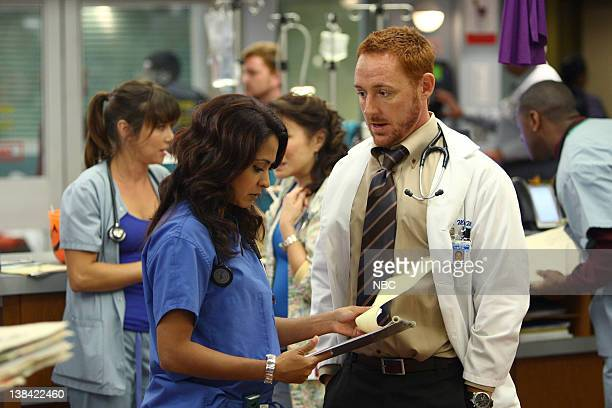 ER 'Haunted' Episode 5 Aired Pictured Parminder Nagra as Dr Neela Rasgotra Scott Grimes as Dr Archie Morris