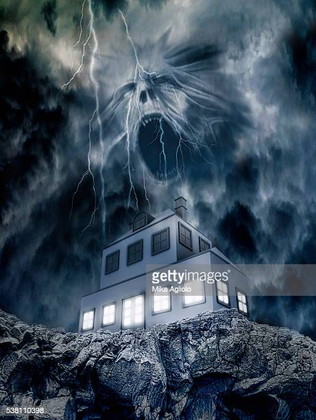 haunted house - mike agliolo stock pictures, royalty-free photos & images