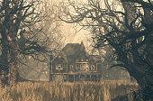 Haunted house scene