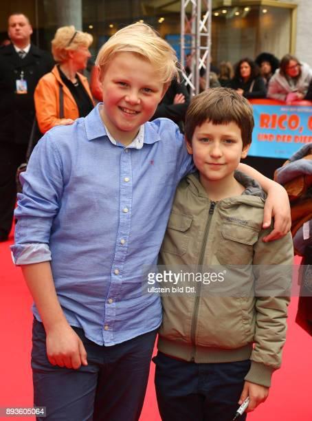 Hauptdarstellern Anton Petzold und Juri Winkler 'Rico Oscar und der Diebstahlstein' im Kino ZooPalast in Berlin Datum