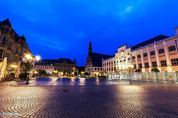 hauptmarkt in zwickau - zwickau stock pictures, royalty-free photos & images